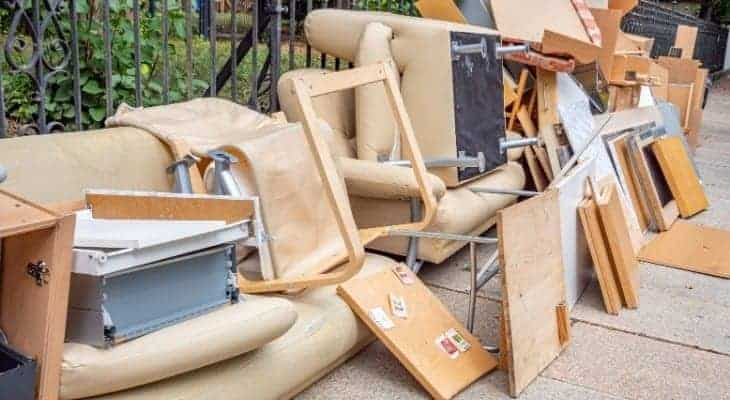 how to get rid of old broken furniture
