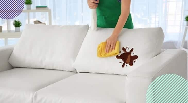 how to get chocolate out of couch