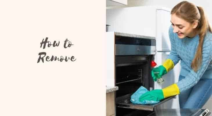 remove melted plastic from oven
