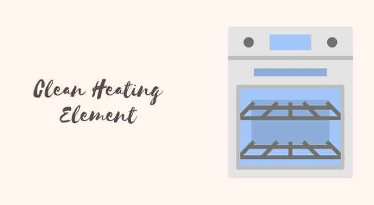how to get melted plastic off oven heating element