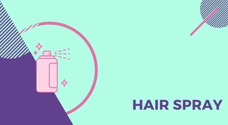 using hair spray